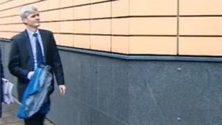 Gary Davies arrives at court