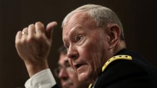 Image shows Ex-Joint Chiefs of Staff Chairman Gen Martin Dempsey