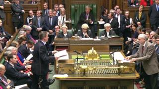 David Cameron and Jeremy Corbyn at Prime Minister's Questions