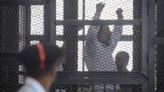 صورة أرشيفية لأحد المتهمين في قضية اقتحام قسم شرطة كرداسة