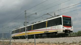 Metro train in Majorca