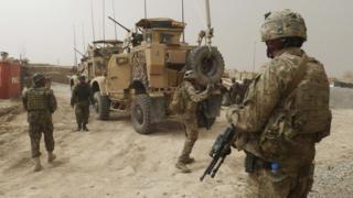 US troops in Afghanistan (file image)