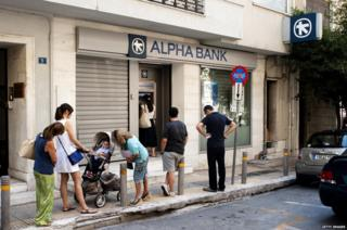 Bank in Greece
