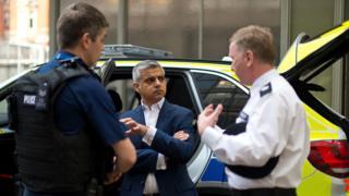 Sadiq Khan and police