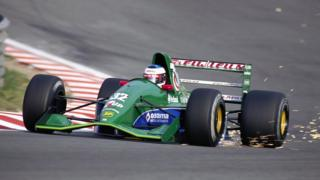 Michael Schumacher corriendo en Spa, Bélgica, en 1991