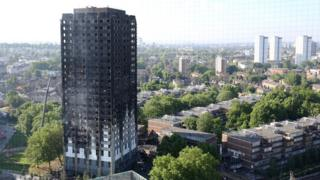 Grenfell Tower in west London after a fire engulfed the 24-storey building. Taken 15 June 2017