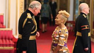 Prince Charles with Emeli Sande