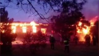 Fire at a rehab centre in Baku