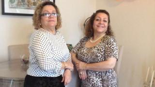 Sakineh Afrasehabi (left) and sister Fatima Afrasiabi