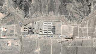 Спутниковый снимок участка пустыни около города Дабаньчэн, 2015 год