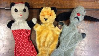 Sooty Sweep Soo puppets auctions