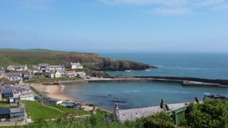 Euan Campbell said Collieston harbour suggested something of the Scottish Riviera