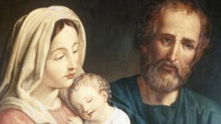 صورة مريم العذراء والمسيح ويوسف