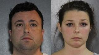 Samuel Emerson, left, and his wife Madelaine Emerson are facing more than two dozen sex offence charges.