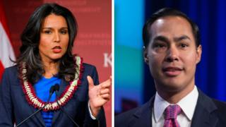 Tulsi Gabbard and Julian Castro