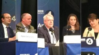 Welsh political leaders at BBC Radio 4's Any Questions