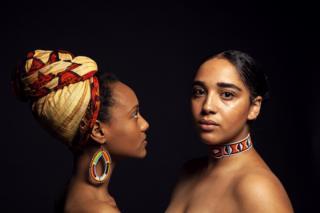 A portrait of two women