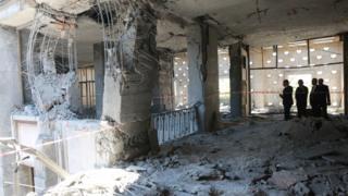 Darbe girişimi TBMM binasına da büyük hasar verdi