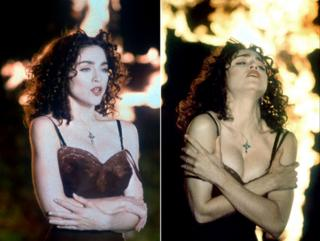 Madonna in music video Like a Prayer