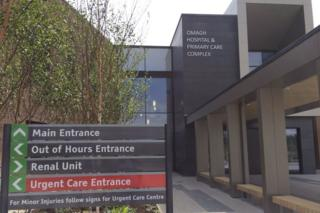 Main entrance of Omagh Hospital and Primary Care Complex