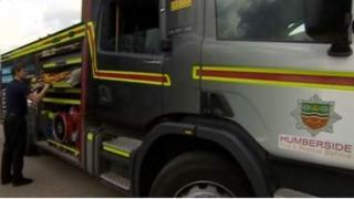 Humberside Fire Service fire engine