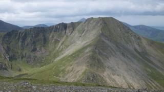 Yr Elen peak in the Carneddau range, Snowdonia