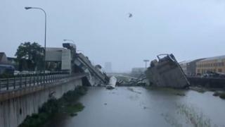 Ponte cai e deixa dezenas de mortos na Itália