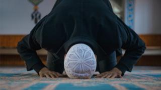 Muslim man worshipping