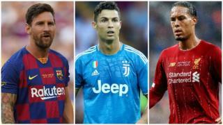 Lionel Messi, Cristiano Ronaldo, Virgil van Dijk