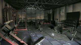 Extensive damage was caused to a gym