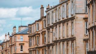 Residential building in Glasgow, Scotland.