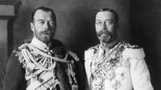 II Nikolay və V Geroge. Üçüncü qohum - Almaniya kansleri Wilhelm - mübarizənin digər üzü idi