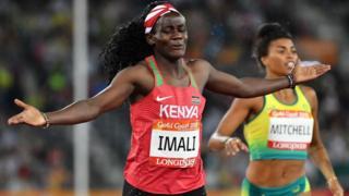 Maximila Imali lors des Jeux du Commonwealth 2018
