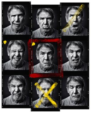 Harrison Ford pulls faces