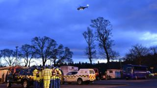 Rescuers by River Tay