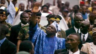 Olusegun Obasanjo, président du Nigéria 1976 à 1979 puis de 1999 à 2007
