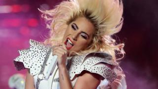 Lady Gaga performs at the Super Bowl