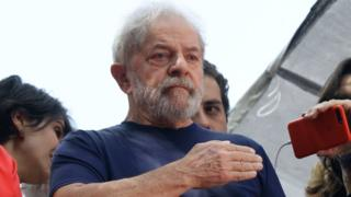 Lula antes de entrar en cárcel.