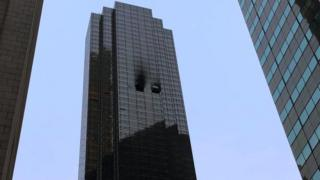 A fire at Trump Tower in New York