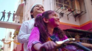 Surf Excel's Holi-themed washing powder advert, India, 2019