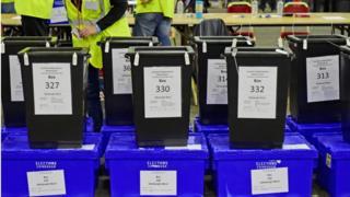 referendum ballot boxes