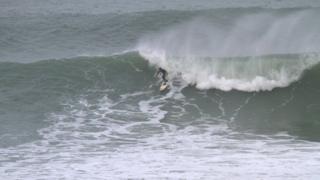 Kamron Matthews surfing the Cribbar