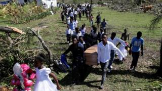 Funeral of Haiti hurricane victim, 8 Oct