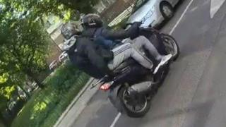 Detectives have released images of two people they wish to trace following a collision in Islington, north London