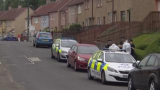 The items were seized at a house in Kirkton Avenue