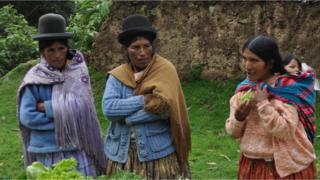 Camponesas na Bolívia