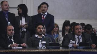 جانب من الحضور في مفاوضات أستانة