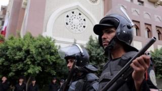 عناصر من الشرطة في مصر