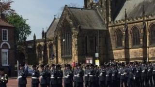 RAF Leeming march through Northallerton