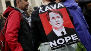 Someone has a 'Kava Nope' sign